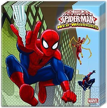 PROCOS 20 Ultimate Spiderman Servilletas para Infantil Cumpleaños ...