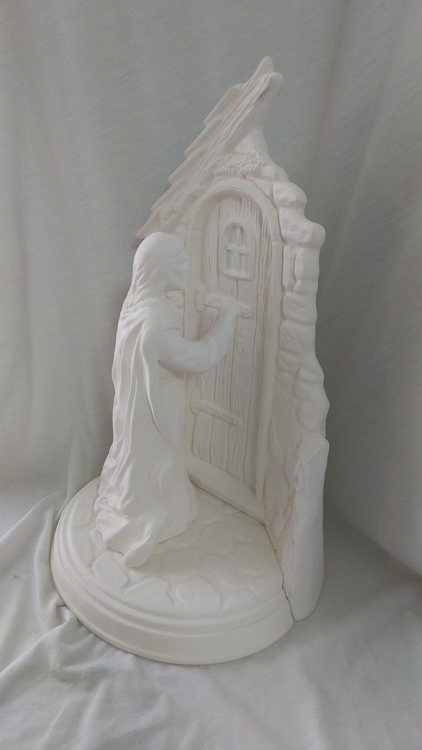 Christ Knocking at the Door 11'' Ceramic Bisque, ready to paint