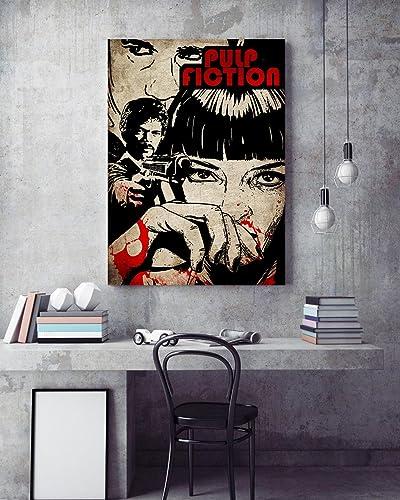 Amazon.com: Pulp fiction Poster, Tarantino Pulp fiction Print, Pulp ...