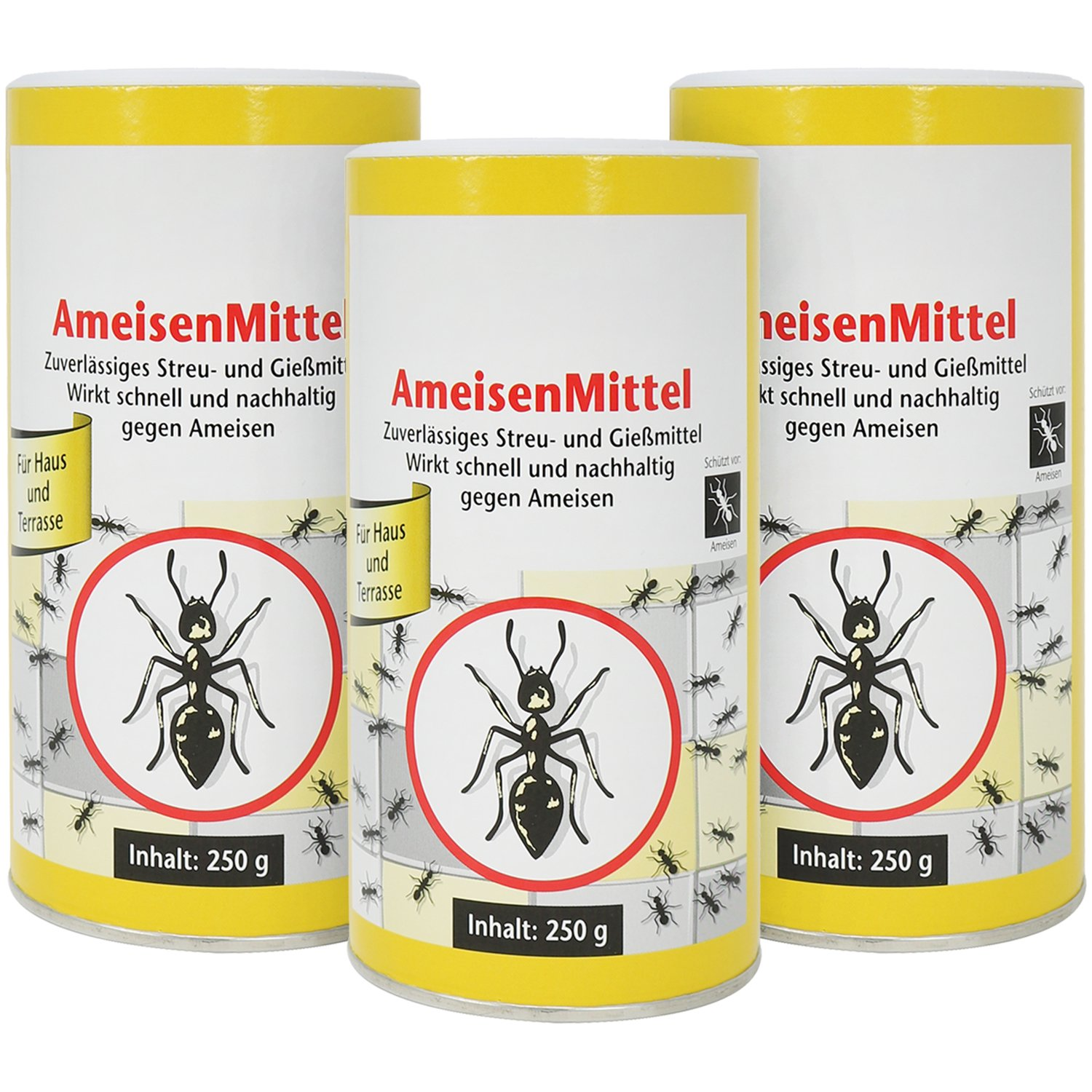 COM-FOUR 3x ANT KILLER WITH BAIT Each 250g, and Pouring Poison Ant, 750 g (03 pieces - ant funds)