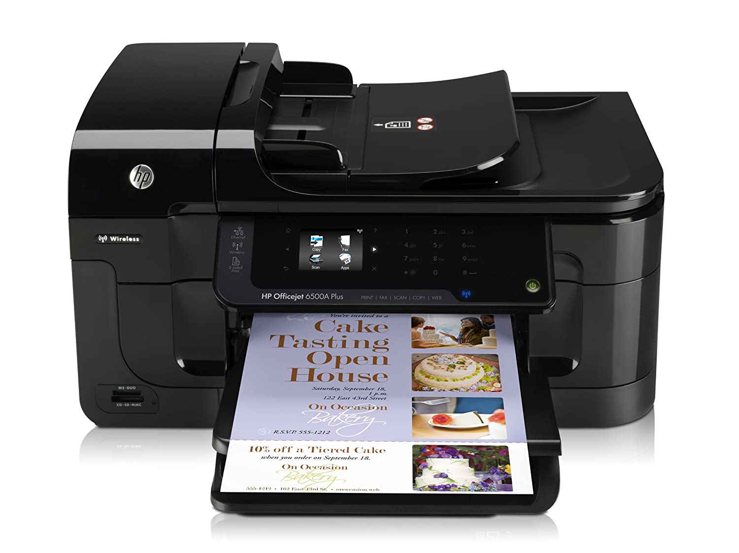 HP Officejet Plus 6500A e-All-in-One Web Enabled Printer (Print, Scan,  Copy, Fax, Wireless, e-Print): Amazon.co.uk: Computers & Accessories