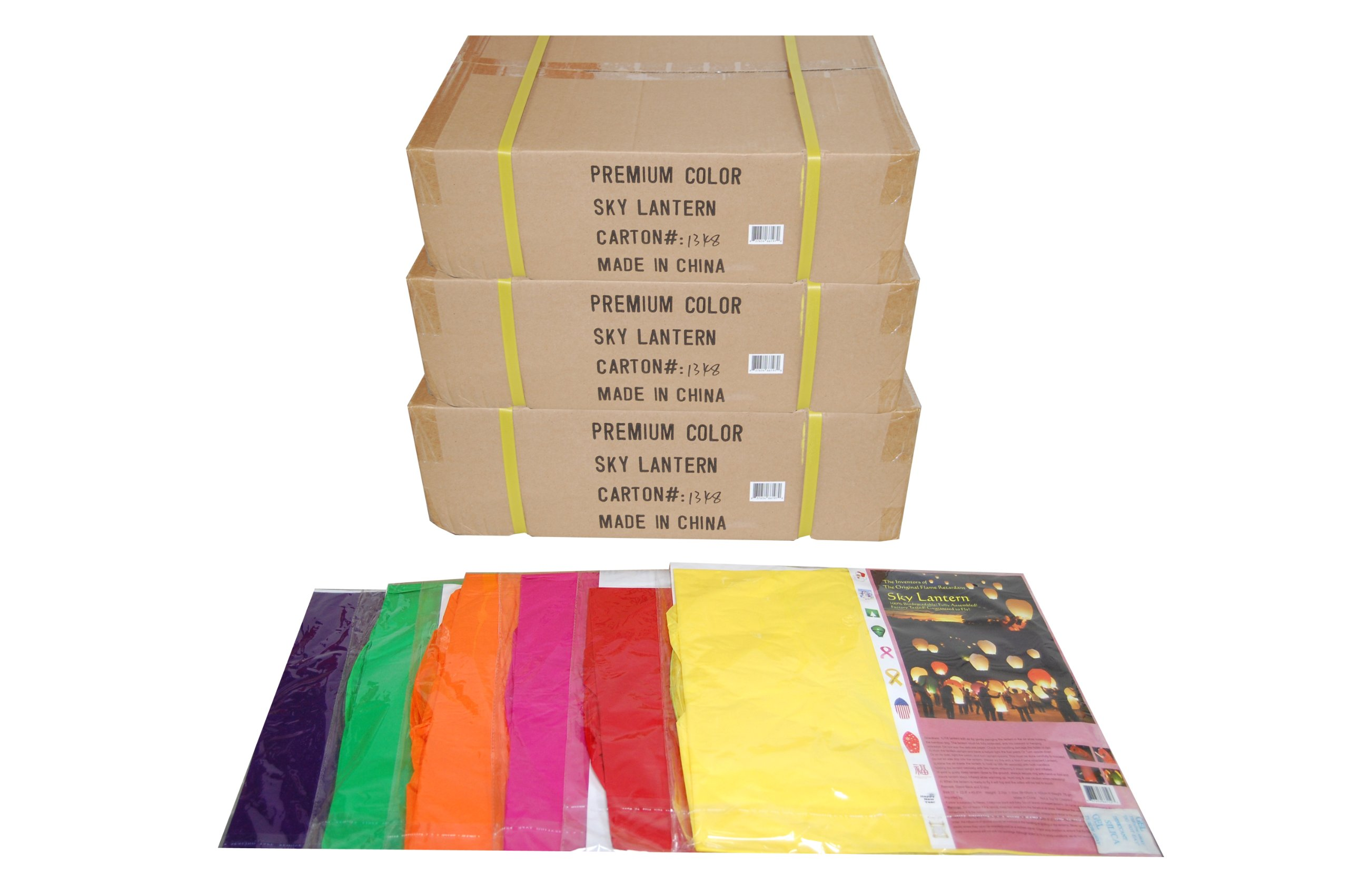Original Ultra Premium Colored Sky Lantern 3 Case Pack 108pc
