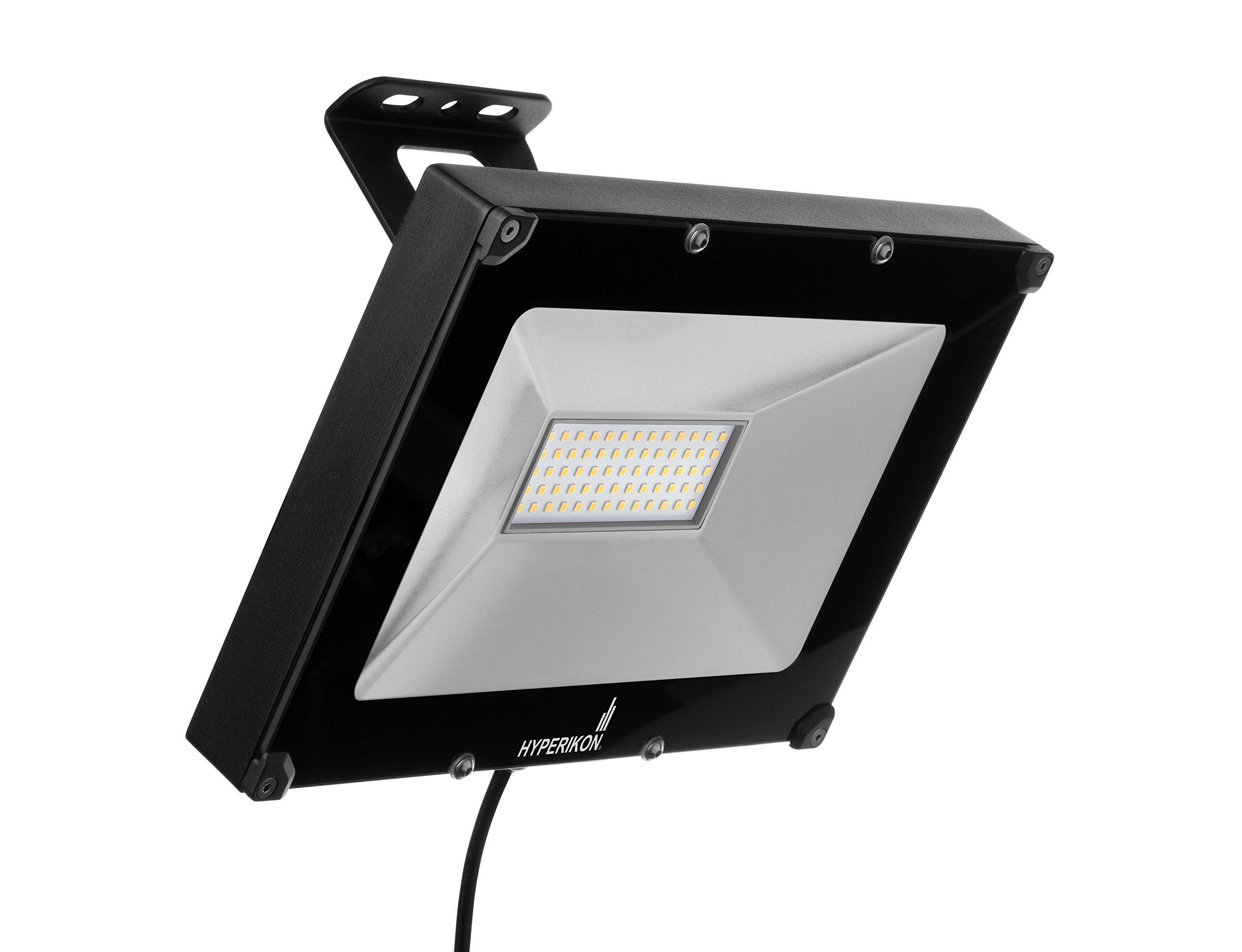 Hyperikon LED Flood Light, 50W (200W Equivalent), 4000 Lumen, 5000K (Crystal White Glow), Waterproof, IP65, 120-277v, UL-Listed