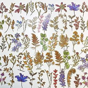 MO.CARD 60pcs DIY Decoration Scrapbooking Sticker (Plants Painting)