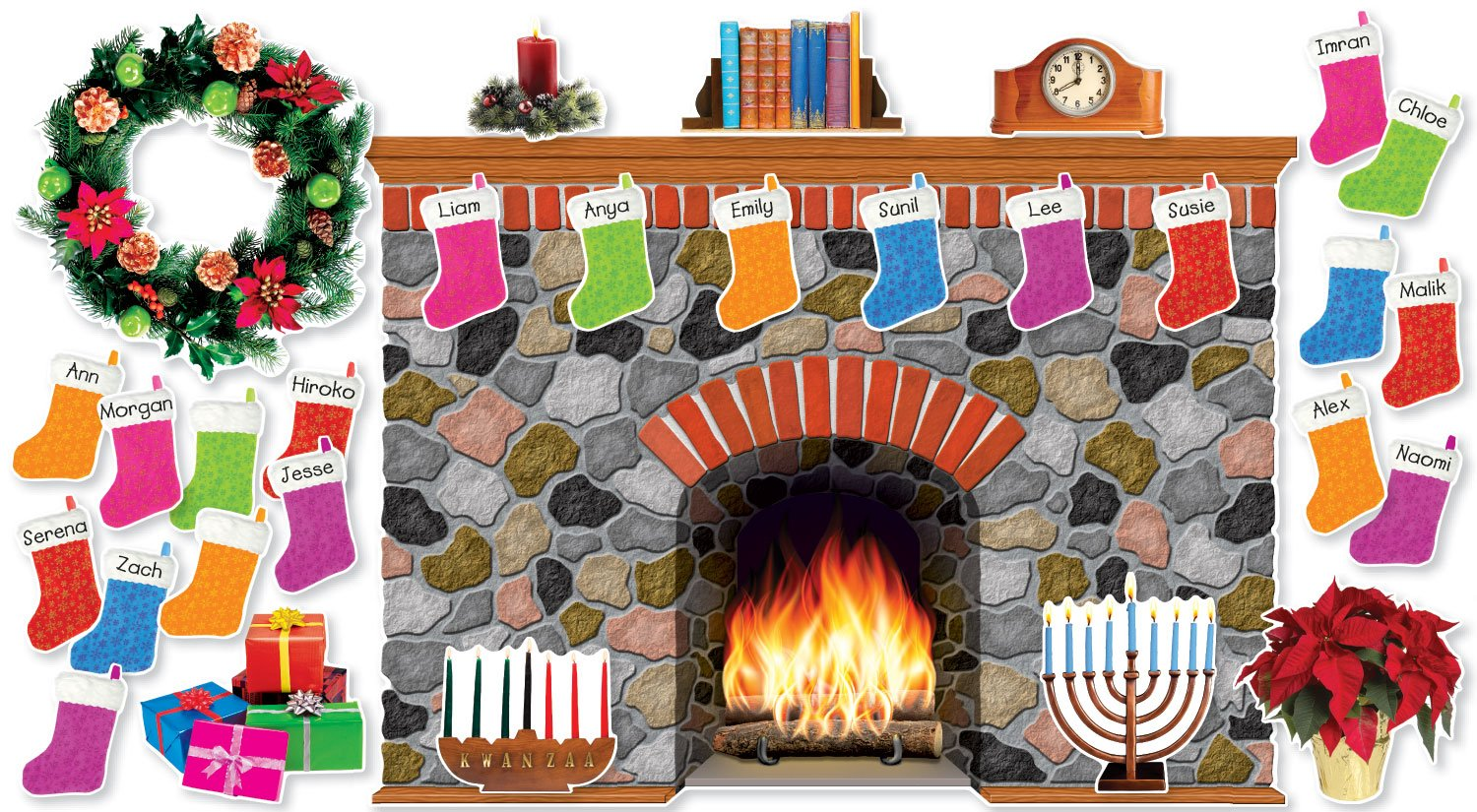 Holiday Hearth Bulletin Board (SC546913) Scholastic General Education Education / General