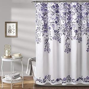 Lush Decor, Purple & Gray Tanisha Shower Curtain, 72