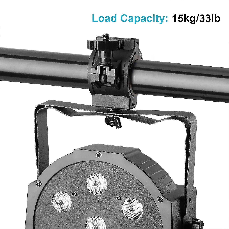 TSSS 5 pacchetti Carica 15 kg Luce della fase travatura morsetti Per DJ Lights Par Light Plastica O morsetto Adattarsi 3 Dimensioni Diametro tubo 25mm 36 millimetri 48 millimetri