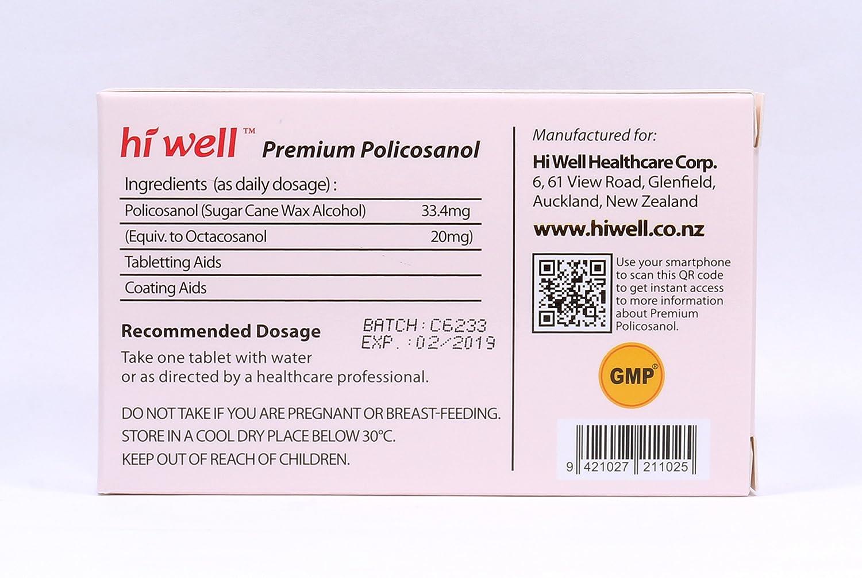 Amazon.com: hiwell Premium – Policosanol 33,4 mg ...