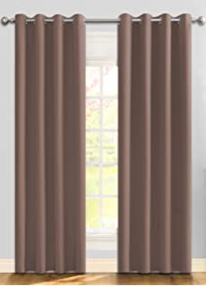 ifblue best room darkening thermal insulated grommet window curtains blackout curtains drapes for bedroom