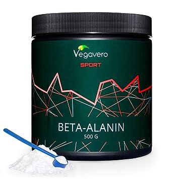 Beta Alanina Vegavero® Sport | 99.2% PURA | LA ÚNICA SIN ADITIVOS | Testada en Laboratorio | Recuperador Muscular + Rendimiento | 500 g | Aminoácidos ...