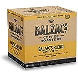 Balzac's Coffee Roasters - Balzac's Blend   100% Compostable Pods   Single Serve K-Cup Pods   Marble (Dark) Roast   Bold, Rou