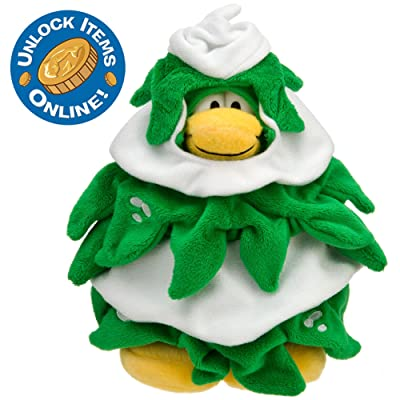 Disney Club Penguin 6'' Limited Edition Penguin Plush -- Christmas Tree: Toys & Games