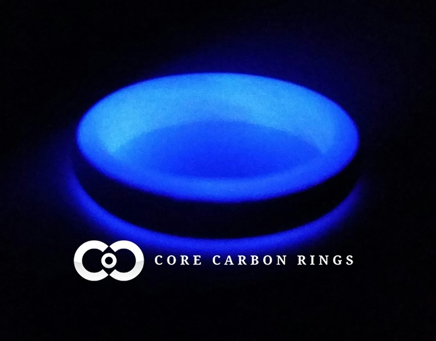 Carbon Fiber Glow Ring-Purple