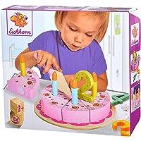 Eichhorn 100003729 - verjaardagstaart met stekertjes, set bevat 1 x taartschep, 4 x getallen, 8 x taartstukken, 4 x…