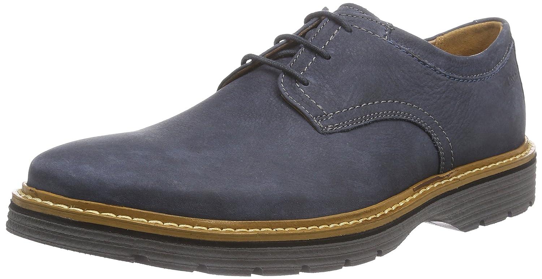 Clarks Newkirk Plain - Zapatos con Cordones de Cuero Hombre