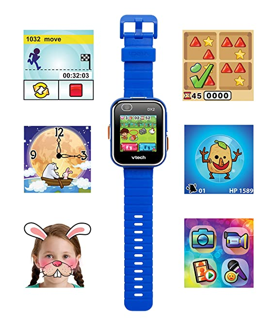 Amazon.es: VTech Kidizoom Smart Watch DX2 - Reloj inteligente para niños con doble cámara, color azul (3480-193822)