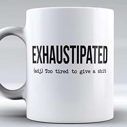 office coffee mugs. Exhaustipated Coffee Mug, Funny College Office Gift For Mugs