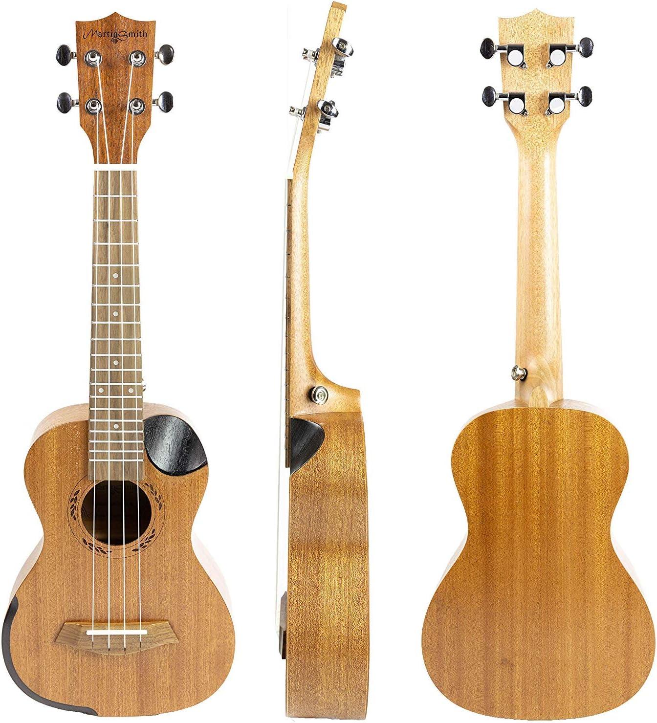 ... Tuner Martin Smith 23inch Real Sapele Wood Concert Ukulele inc Padded Case