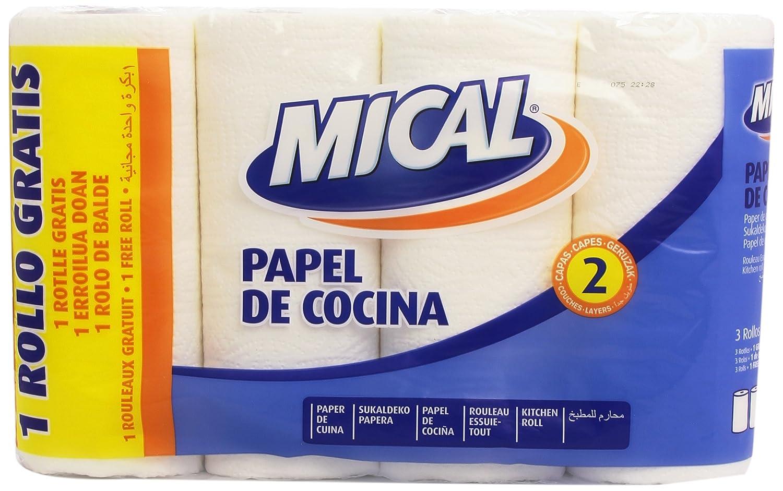 Mical-Rotolo di carta da cucina, 2 strati, 4 rotoli