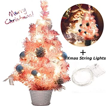 Image Unavailable. Image not available for. Color: B bangcool Pink  Christmas Tree Mini ... - Amazon.com: B Bangcool Pink Christmas Tree Mini Christmas Tree