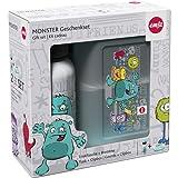 Emsa 516173 2-teiliges Geschenkset für Kinder, Brotdose und Trinkflasche, Mint, Kids Set Monster