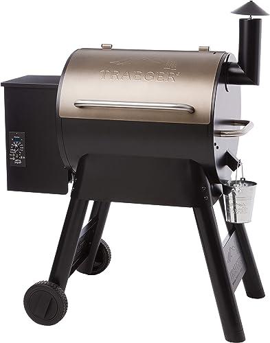 Traeger Grills Pro Series 22 Pellet Grill Smoker Bronze, Gen I, 572 Sq. In. Capacity TFB57PZBO model