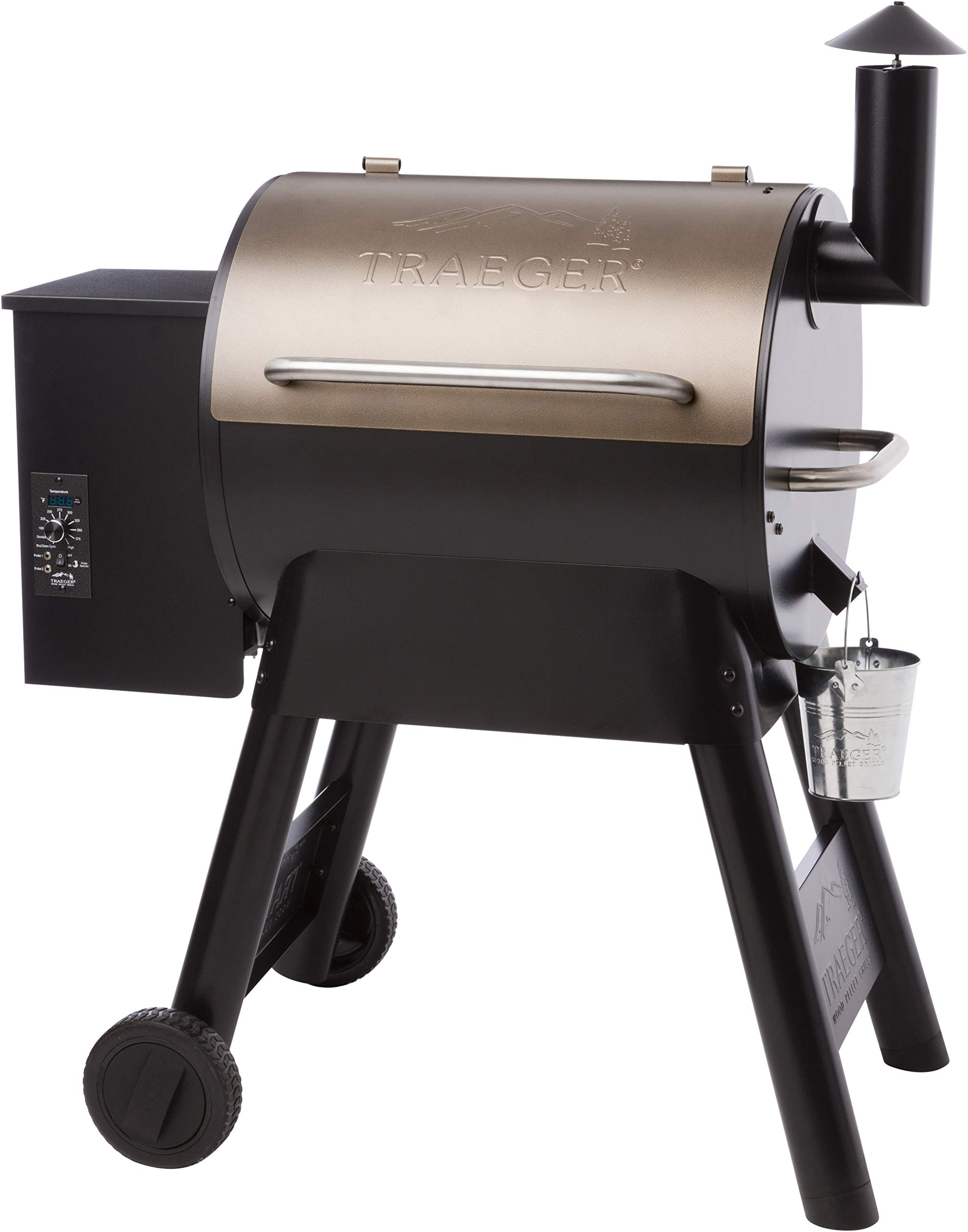 Traeger Grills TFB57PZBO Pro Series 22 Pellet Grill and Smoker, 572 Sq. In. Cooking Capacity, Bronze by Traeger