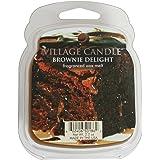Village Candle Galet fondant de cire parfumée pour brûle-parfum Senteur brownie