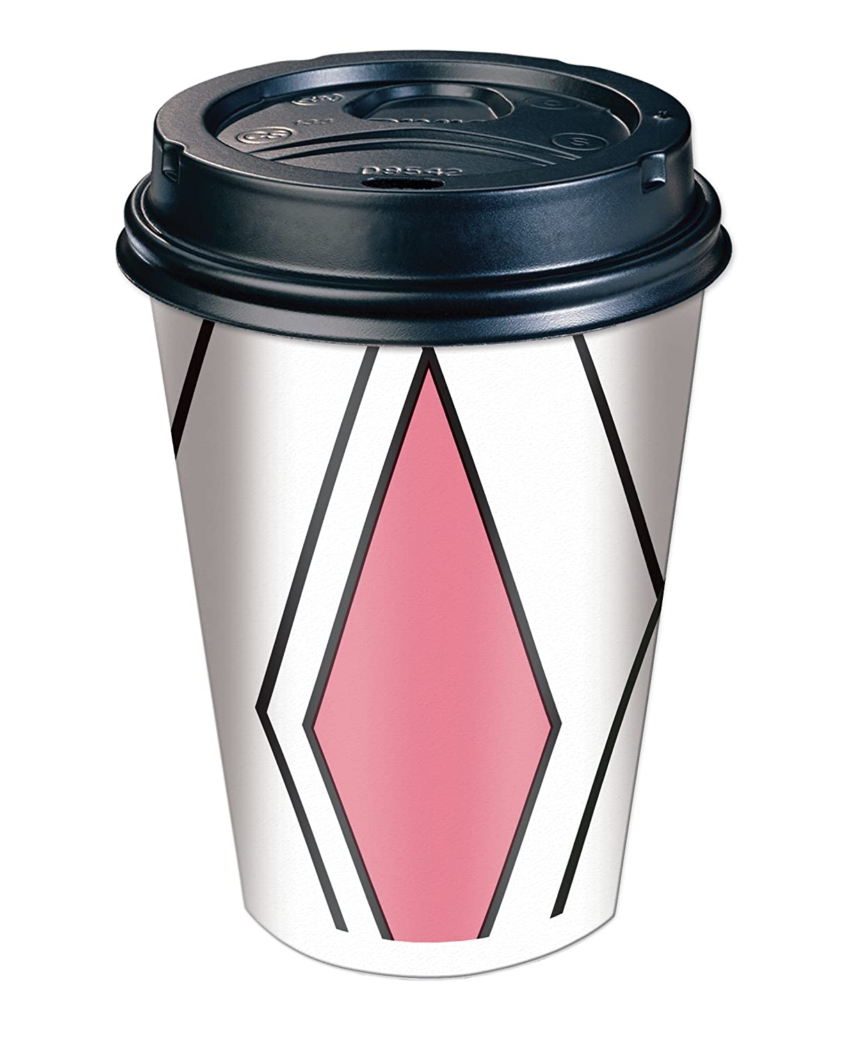 Dixie to Go Coffee Cups & Lids, 12 Oz, 84 Count, Assorted Designs, 6 Packs  of 14, Disposable Hot Beverage