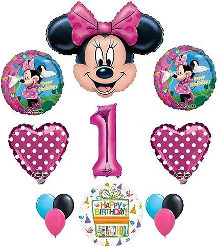 Amazon.com: Minnie Mouse 1st fiesta de cumpleaños ...