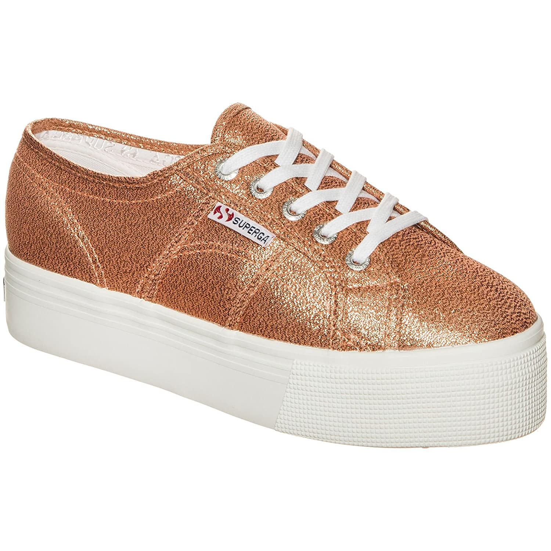 Superga S009TC0 - Zapatillas de Plataforma Lamew para Adultos, Unisex 39.5 EU Rose Gold