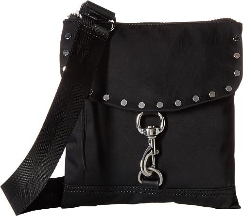 b4ed3d94c Rebecca Minkoff Women's Nylon Flap Crossbody Black One Size: Amazon ...
