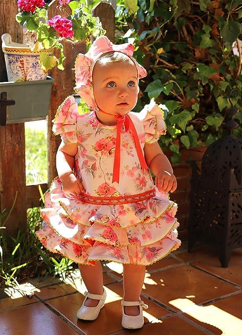 MI HIJA Y YO Vestido Traje Flamenca niña bebé (Desde 1 Mes hasta ...