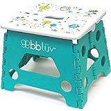 bblüv - Stëp - Foldable Step Stool - Safe, Compact and Easy to Clean (Aqua)