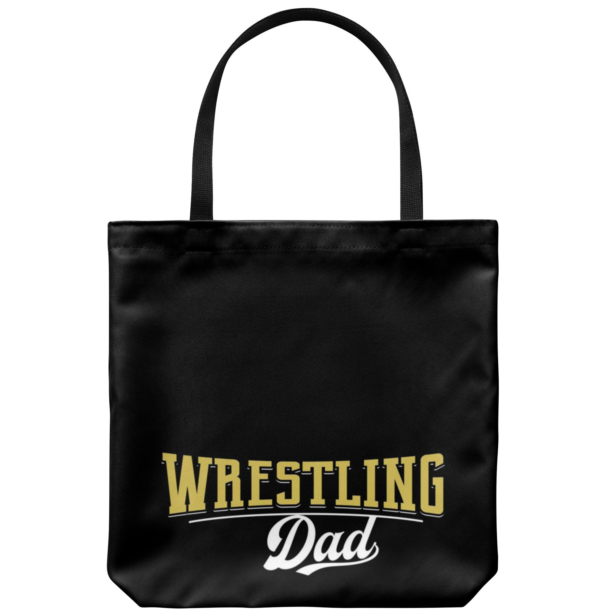 Wrestling Dad Canvas Tote Bag Funny Father's Day Wrestler Gifts Proud - Text Graphics