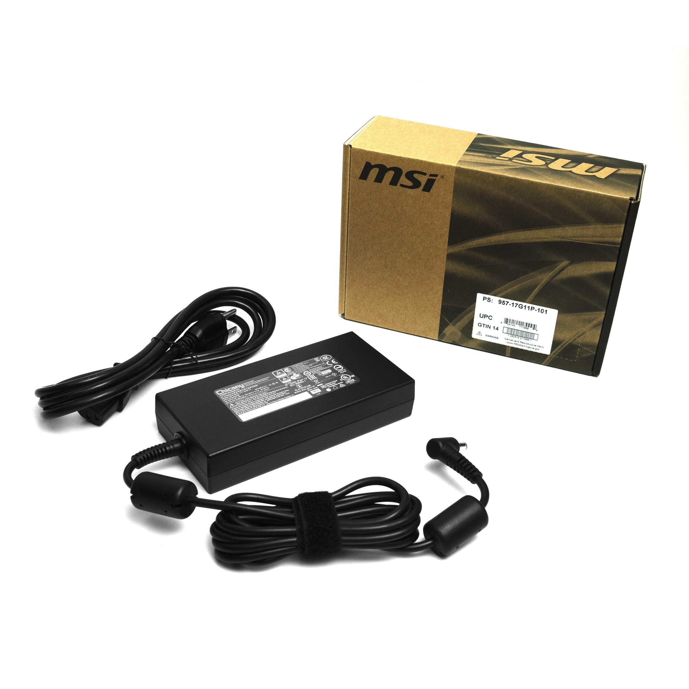 Genuine 230W AC/DC Power Adapter (957-17G11P-101) for MSI GS65/GS75 with RTX2070/RTX2080 Laptops by MSI (Image #1)