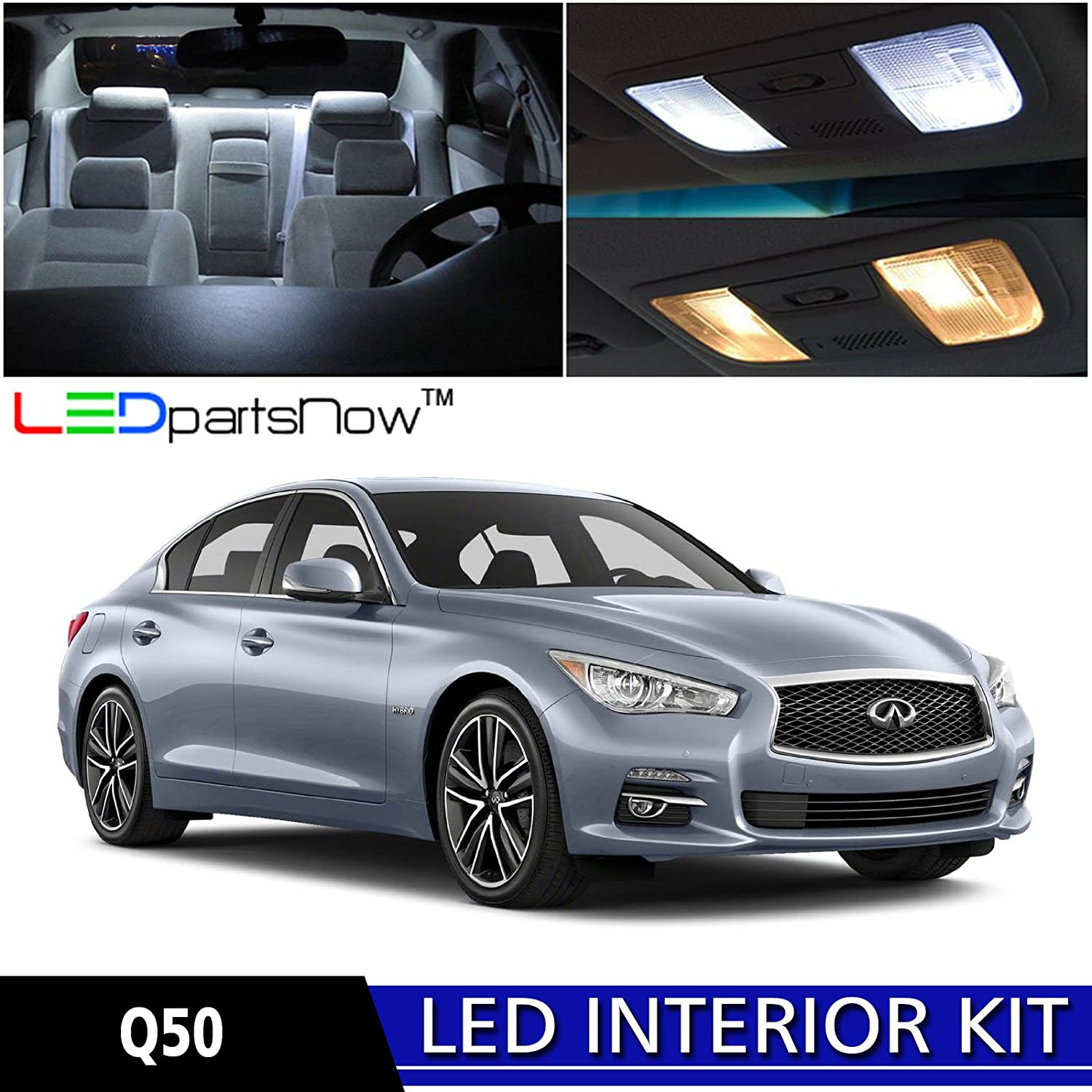 infiniti q50 2015 white. amazoncom ledpartsnow 20142015 infiniti q50 led interior lights accessories replacement package kit 10 pieces white tool automotive 2015 white
