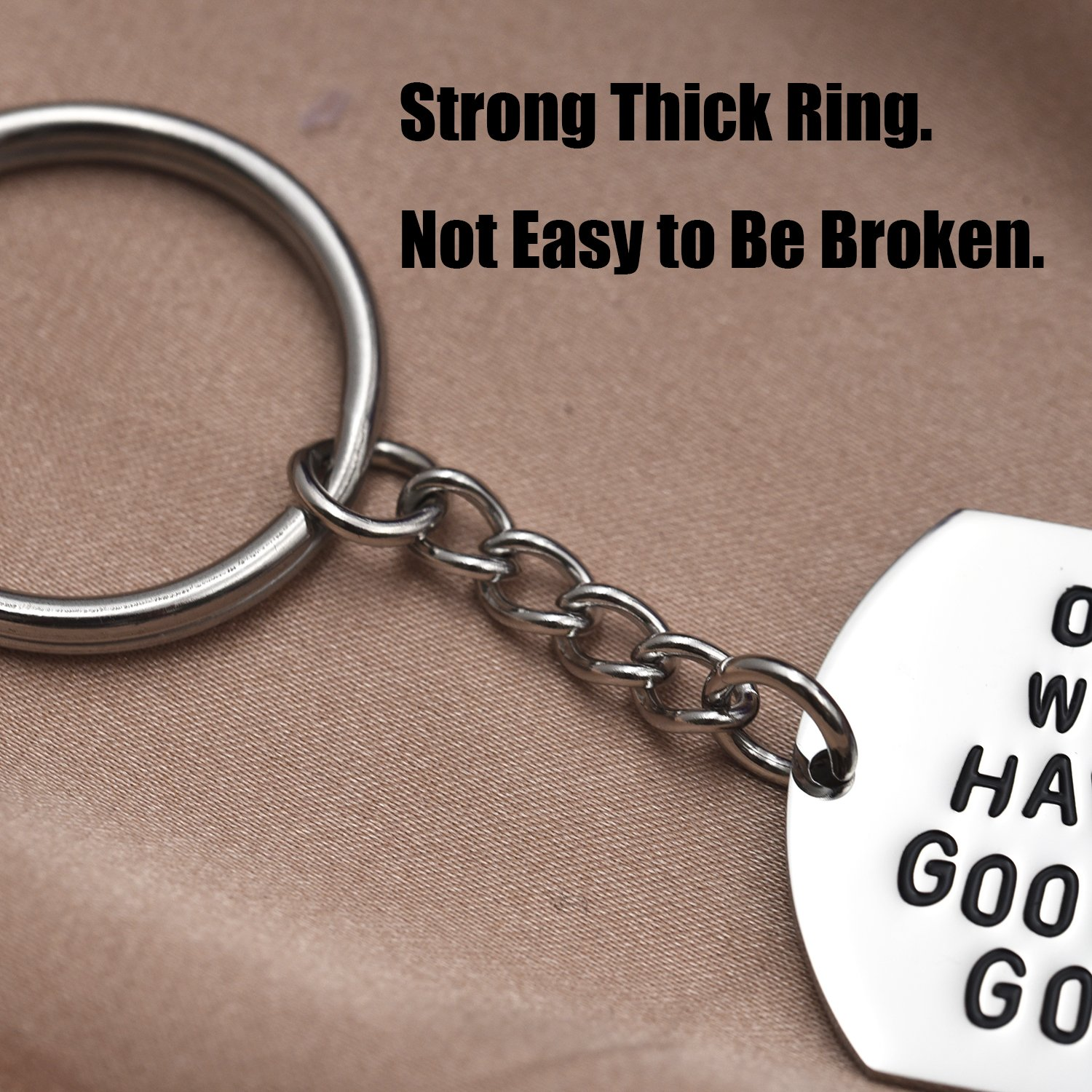 LParkin One Day We Will Never Have to Say Goodbye Long Distance Relationship Gifts Keychain/Necklace Love Quote Valentines Gift (Keychain) by LParkin (Image #4)