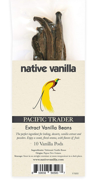 Native Vanilla - Vaniglia Tahitiana di grado B - ideale per estratto di vaniglia - 10 bacche - confezione premium