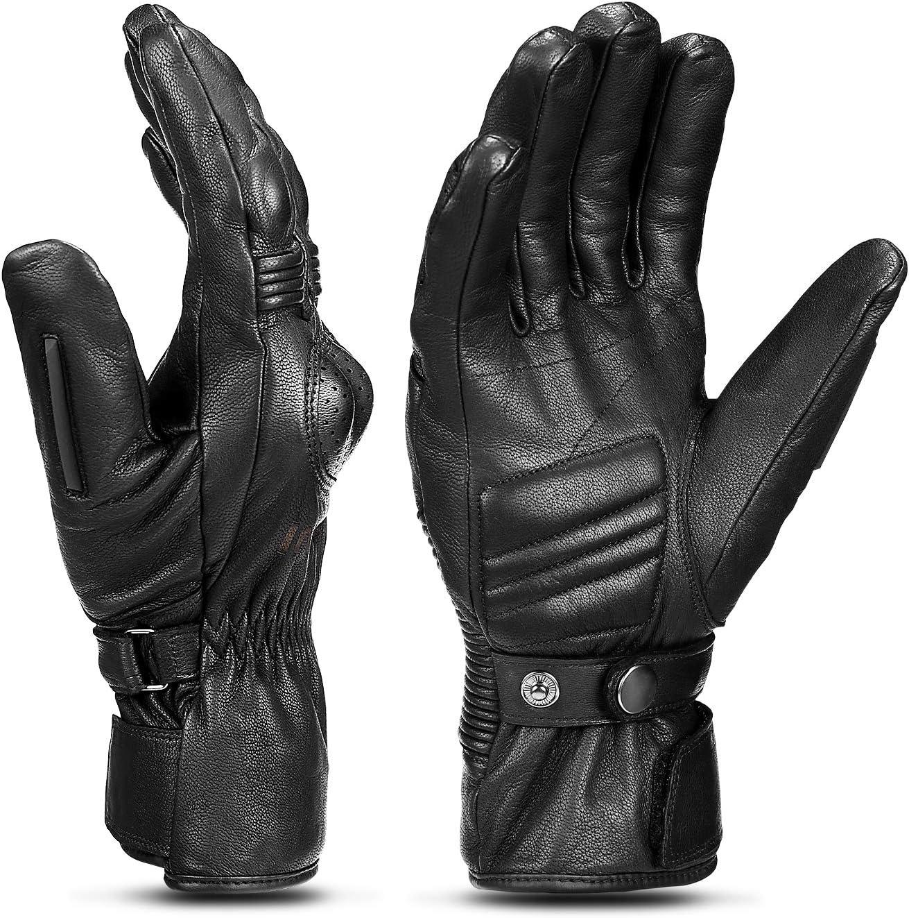 INBIKE Motorrad Handschuhe Winter 100/% Ziegenleder Motorradhandschuhe Mit 250g//㎡ Thinsulate