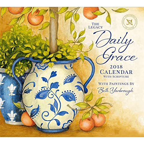 Amazon.com : 2018 Daily Grace with Scripture Wall Calendar - Legacy ...