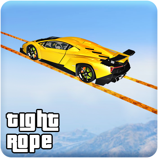 Longest Tightrope Mega Ramp Car Racing Stunts ()