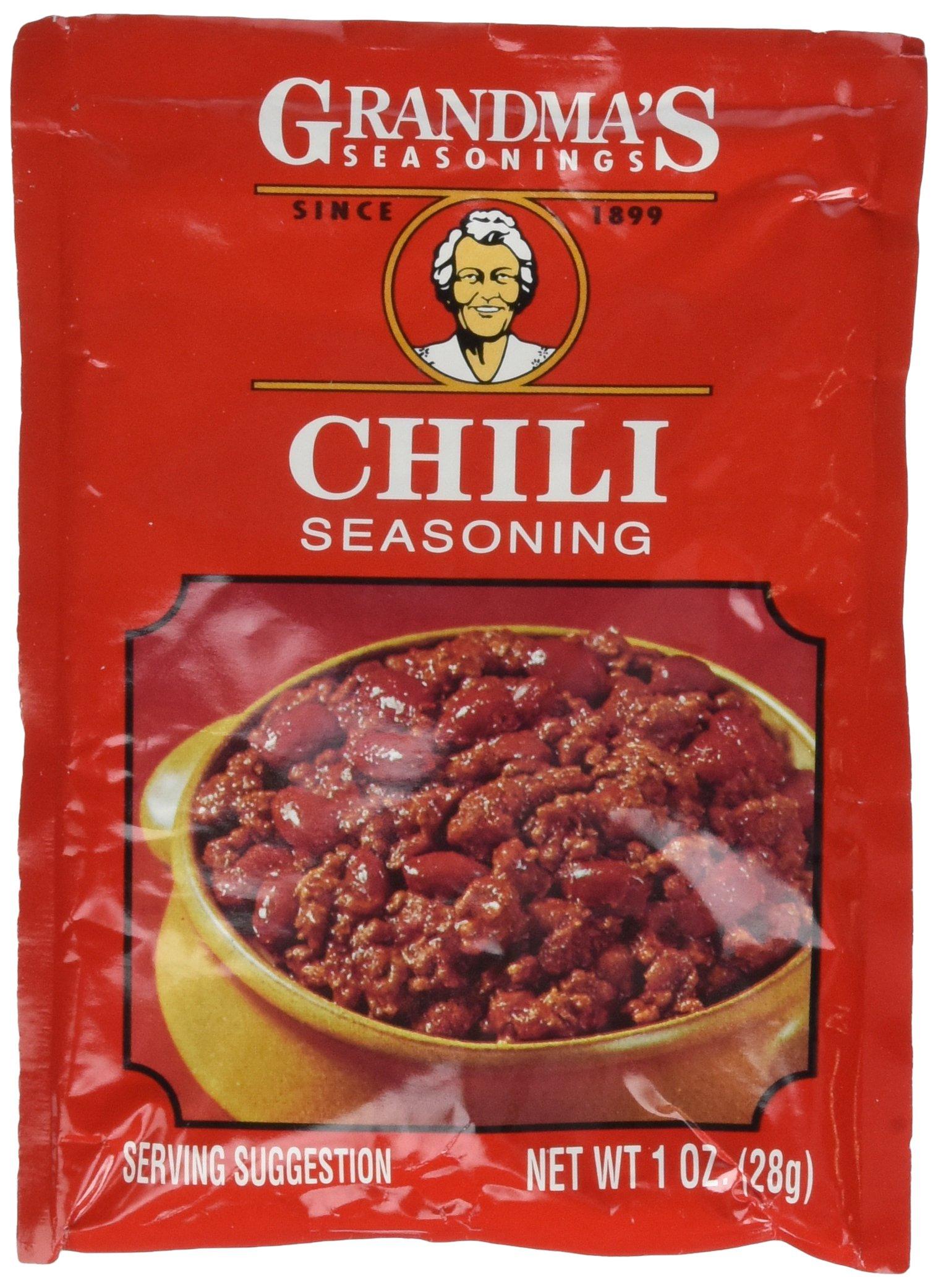 Grandma's Chili Seasoning-12 Packets, .875oz
