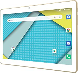 """Tablet + Phone = Phablet 10.1"""" Display Unlocked 3G Android 8.1 Google Certified Powerful 4700 mAh Battery Dual Camera Fast Quad Core Processor ATT Tmobile Metro Cricket More - Gold"""