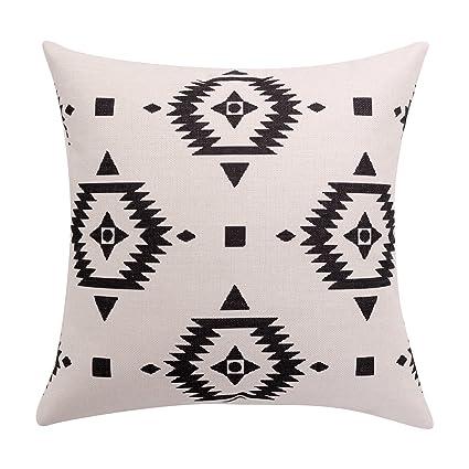 Amazon Com Breezylife Aztec Throw Pillow Covers Black And White