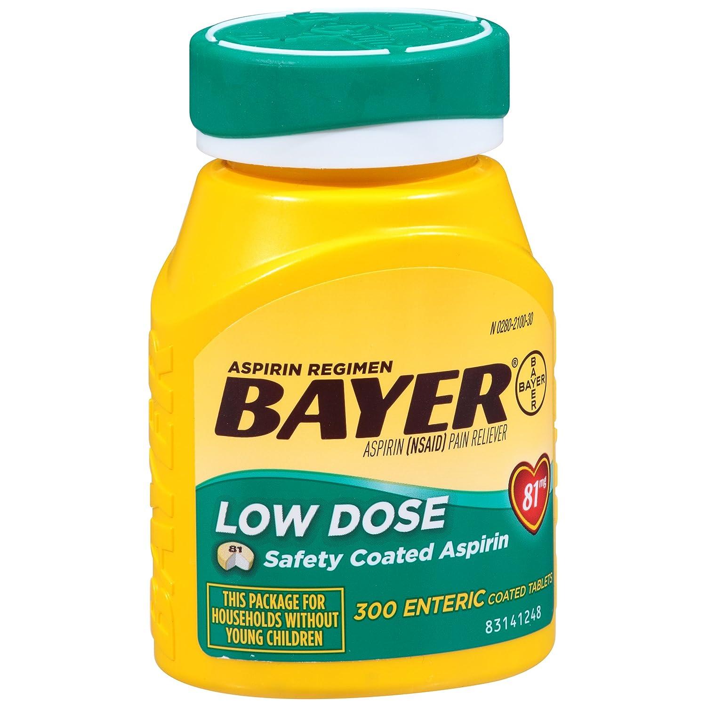 Aspirin Regimen Bayer 81mg Enteric Coated Tablets 1 Doctor Recommended Aspirin Brand Pain