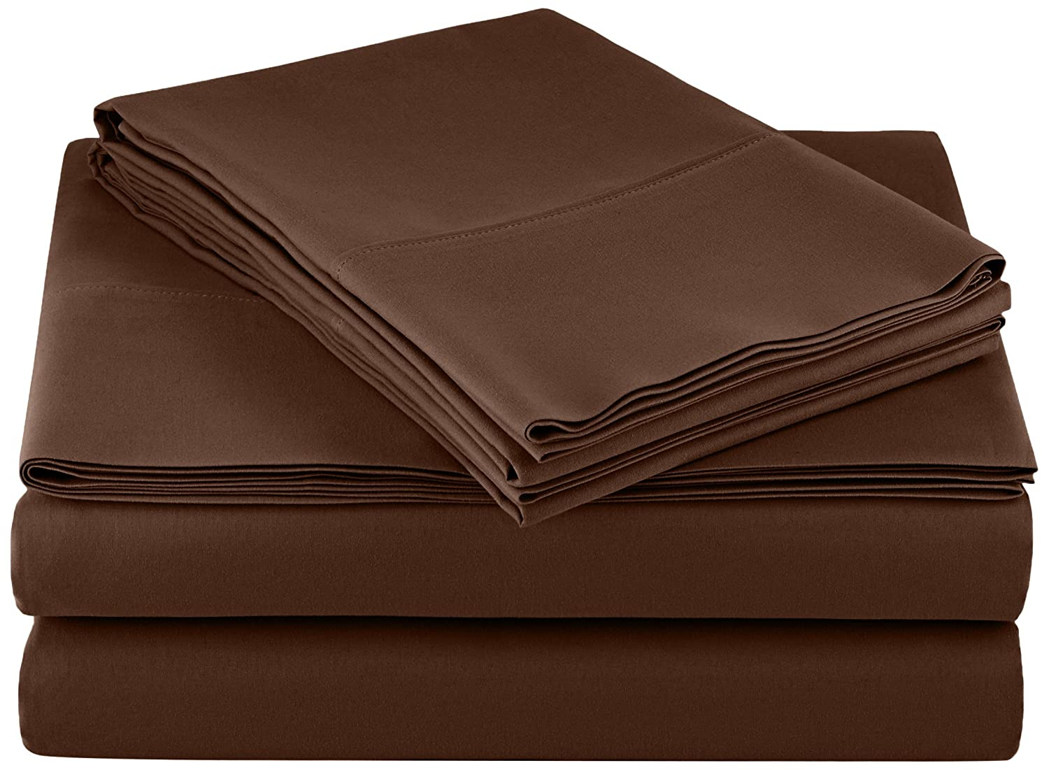 AmazonBasics Microfiber Sheet Set, Cal King, Chocolate