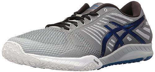 Mens FuzeX TR Running Shoe, Mid Grey/Imperial/Carbon, 10 M US Asics