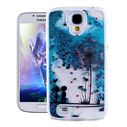 Galaxy S4 Case, Samsung S4 Case, EMAXELER 3D Creative Painted Pattern Flowing Liquid Floating Bling Shiny Liquid Polycarbonate Hard Case for Samsung ...