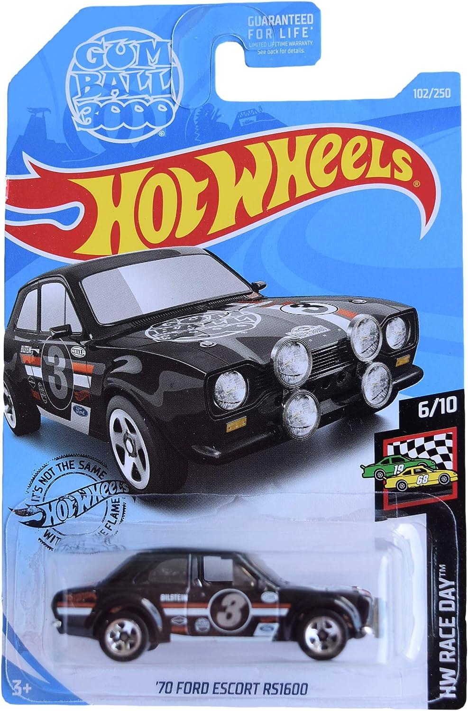 2019 Hot Wheels #102 HW Race Day /'70 Ford Escort RS1600 black